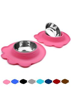 (This is an affiliate pin) Vivaglory Unique Design Dog Bowls Set With stylish patterns and amazing colors, the dog bowls are sure to brighten up the space and make feeding fun! Different size, different designPerfect for dry kibble, wet food, treats, and water Double bowls for food and water at the same timeFood grade materialRemovable stainless steel bowlNo-spill silicone matDishwasher-safe Capacity: 13.5 OZ (2 cups) for each bowl Package includes: 2*Dog bowl & 2*Silicone mat No Messy Floo... Stainless Steel Dog Bowls, Cat Feeder, Small Cat, Dog Design, Bowl Set, Dog Food Recipes, Puppies, Space, Floor Space