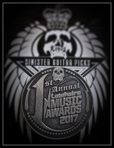 Sinister Guitar Picks Designed And Produced These Commemorative Coins. They  Were Made To Commemorate Loudwire's 1st Annual Music Award Show Held At The Novo Theater Oct 24th, 2017.