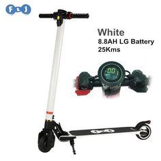 FLJ Upgrade Foldable Electric scooter Carbon Fiber Skateboard LG Battery 8.8ah/10.4ah bike Kick Scooter for Children Adult