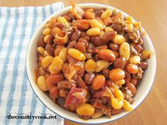 Cowboy Calico Beans (with minced beef)