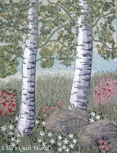 Ulla's Quilt World: Quilted tree wall hanging