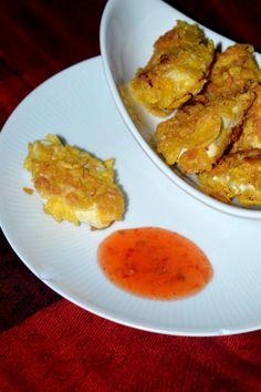 Selbstgemachte Chicken Nuggets mit einer crunchy Cornflakes Panade! Einfach herrlich!