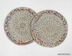 Podkładki na stół ColorsGray - zestaw - zapleciona - Podkładki i serwetki