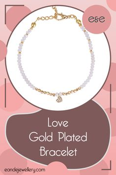 Romance is real with the Love Gold Plated Bracelet. Coloured beads are set aside by gold plated beads, which in turn frame the most adorable little dangling heart charm! Gold Plated Bracelets, Gold Plated Rings, Gold Plated Necklace, Bangle Bracelets, Bridesmaid Bracelet, Bridesmaid Gifts, Hand Of Fatima, Heart Charm, Crystal Beads