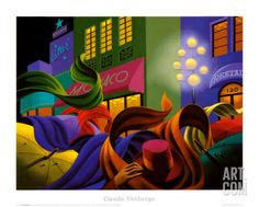 Une Belle Soiree Art Print by Claude Theberge at Art.com