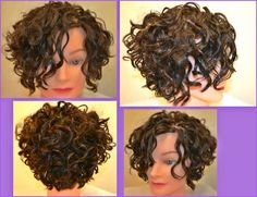 A fun new hair design for curly girls who'd like something shorter :-)