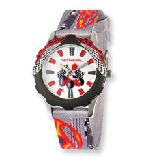 Red Balloon Speed Racing Printed Band Tween Watch $60
