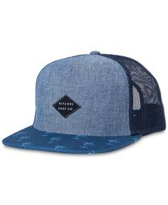 Rip Curl Men s Palm Point Trucker Hat - Blue 36165081f320