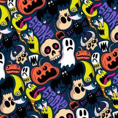 Spooky Pattern Art Print by chrispiascik