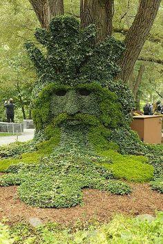 Green Man, International Mosaiculture Exhibition. Topiary GardenGarden  ArtGarden ...
