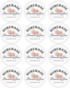 strawberry jam lid labels