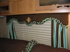 how to recover an RV cornice board