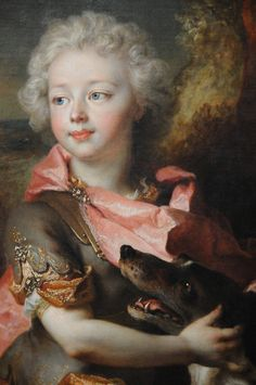 Portrait of a Boy in Fancy Dress (detail), 1710-14, by Nicolas de Largillière (French, 1656–1746)