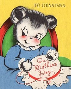 vintage Mother's Day card to Grandma