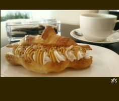 Yum! Penut Cream Croissant and fresh coffee @ Sheraton Grande Tokyo Bay Hotel *photo by afs