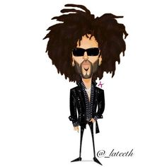 Lenny Kravitz by Latif Trice