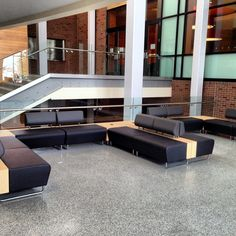 Hub Modular Seating by KI Furniture adds a sophisticated first impression to any college/university lounge space. #teamcorbett #corbettupstate