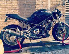Ducati monster 900 cafe racer in progress Ducati Cafe Racer, Cafe Racer Bikes, Ducati Monster S4, Street Fighter, Scrambler, Custom Bikes, Bobber, Motocross, Concept Art