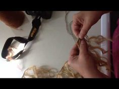 """waldorf doll head tying the chin line and making """"chubby cheeks"""" on the dolls face - YouTube"""