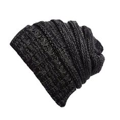 233fd29eb38 PaZinger Stretch Cable Slouchy Beanie Hat Trendy Warm Chunky Soft Knit Cap