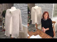 Derya Baykal Hırka Modelleri - Sibel Kavaklıoğlu - YouTube Knitting Videos, Crochet Videos, Cute Crochet, Crochet Top, Crochet Jacket, Crochet Granny, Baby Hats, Sweater Cardigan, Pattern