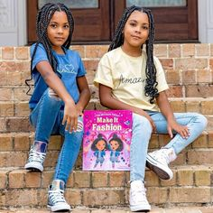 """Introducing your new favorite children's book stars: The McClure Twins! This adorable and fun story about embracing differences is perfect for fans of Juno Valentine and Fancy Nancy. Ava and Alexis are twins. So when they find out they were born a whole minute apart and that they don't agree on what to wear for their fashion show, the girls start to wonder… Can twins be """"mismatched""""?! 📸 @mccluretwins Mcclure Twins, National Book Store, Celebrity Books, Excellent Movies, Fancy Nancy, Thalia, How To Introduce Yourself, Wedding Styles, What To Wear"""