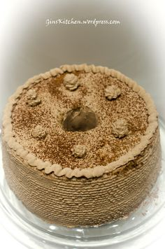 Mocha Chiffon Cake, just like 7 layer mocha from pastry table Coffee Chiffon Cake Recipe, Chiffon Recipe, Chocolate Chiffon Cake, Coffee Dessert, Dessert Drinks, Coffee Cake, Dessert Recipes, Coffee Drinks, 21 Day Fix