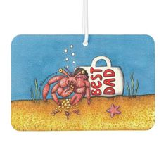 Funny Hermit Crab in Best Dad Coffee Mug Air Freshener first fathers day gift ideas from wife, fathers day gifts from grandkids, fathers day gifts from kids crafts homemade 1st Fathers Day Gifts, Homemade Fathers Day Gifts, Father Presents, Diy Father's Day Gifts, Fathers Day Quotes, Fathers Day Crafts, Grandpa Gifts, Mom Quotes, Father's Day Words