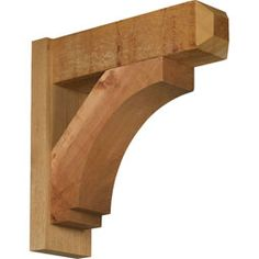 Merced arts crafts style smooth solid wood outlooker for Craftsman style brackets