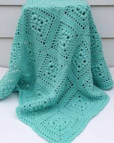 Baby Puff Square Afghan Crochet Pattern - purchase at Maggie's Crochet