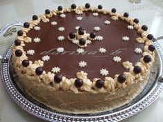 Karamelová torta s orechami High Sugar, Pavlova, Pesto, Tiramisu, Gluten, Cookies, Baking, Cake, Ethnic Recipes