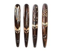 Set de 4 máscaras de madera Étnica