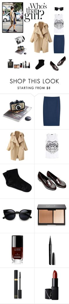 """""""That girl"""" by sarah0-0 on Polyvore featuring moda, MANGO, WithChic, Alexander McQueen, RED Valentino, Prada, Chanel, Marc Jacobs, NARS Cosmetics y vintage"""