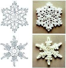 Image result for вязаные снежинки схемы