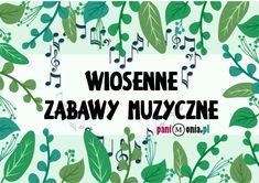 Archiwa: Do pobrania - Pani Monia Music Education, Plant Leaves, Kindergarten, Preschool, Kids, Poster, Youtube, Speech Language Therapy, Music Ed
