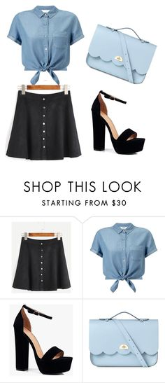 """Untitled #48"" by amela-besic ❤ liked on Polyvore featuring Miss Selfridge, Boohoo and The Cambridge Satchel Company"