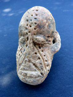 Antique for sale Djenné terracotta statue medieval african head Mask Head Sculpture Fine arts architecture