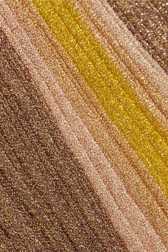 Missoni - Metallic Stretch-knit Midi Skirt - Gold