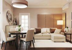 46m2-es lakás kellemes bézs árnyalatokkal, elegáns, természetes anyagokkal és hangulattal
