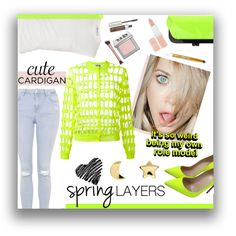 Spring Cardigan by kioriknight on Polyvore featuring Moschino, Alexander Wang, Topshop, Christian Louboutin, Nina, Erica Weiner, Urban Decay, Rimmel, Anastasia Beverly Hills and cutecardigan