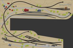 """Glaubwürdiger und spannender Betrieb auf einen Nebenbahn im Point to Point Konzept. Schlanke Weichen, große Radien und ein besonderer Trick bieten eine ansprechende """"organische"""" Gleisführung – und das mit dem Märklin C-Gleis. Dieser H0 Gleisplan zeigt, das weniger mehr sein kann. N Scale Train Layout, N Scale Trains, Train Layouts, Image Train, Train Room, New Years Eve Party, Model Trains, Beautiful Images, Tricks"""