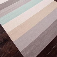 Reversible wool flatweave rug with multicolor striping.    Product: RugConstruction Material: 100% WoolCol...
