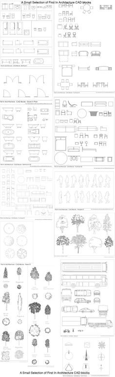 10 Free AutoCAD Block Websites First In Architecture Cad Blocks SelectionFirst In Architecture Cad Blocks Selection Croquis Architecture, Architecture Student, Architecture Plan, Architecture Details, Landscape Architecture, Interior Architecture, Architecture Symbols, Architecture Diagrams, Architecture Mapping