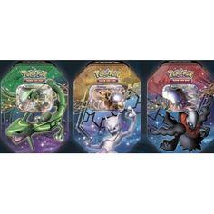 Amazon.com: Pokemon Trading Card Game 2012 Fall Sealed Legendary EX Tin Set of 3 Rayquaza Mewtwo Darkrai