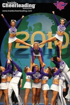 10 person cheerleading pyramid - Google Search