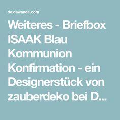 Weiteres - Briefbox ISAAK Blau Kommunion Konfirmation - ein Designerstück von zauberdeko bei DaWanda