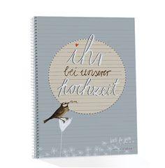 Hochzeitsgästebuch mit Fragen und zum Malen, groß, IHR BEI UNSERER HOCHZEIT, Hochzeitsalbum für Gäste