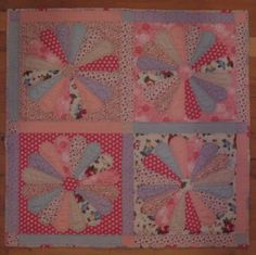 Stampin' Up!  Twitterpated and Flirtatious Fabric  Cheryl Garratt  Flower Quilt