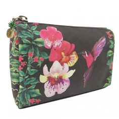 Disaster Designs Havana Hummingbird Make Up Bag with Pineapple Charm Zip Pull Disaster Designs, Wash Bags, Havana, Hummingbird, Coin Purse, Make Up, Wallet, Gifts, Nest