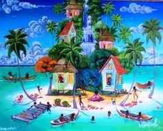 giclee prints 16 x 20 inches Caribbean Art, Hawaiian Art, Tropical Art, Sky Art, African American Art, Whimsical Art, Beach Art, Belize, Giclee Print